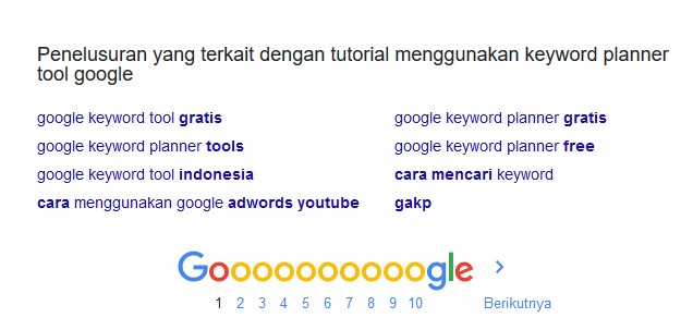 keyword suggestion google